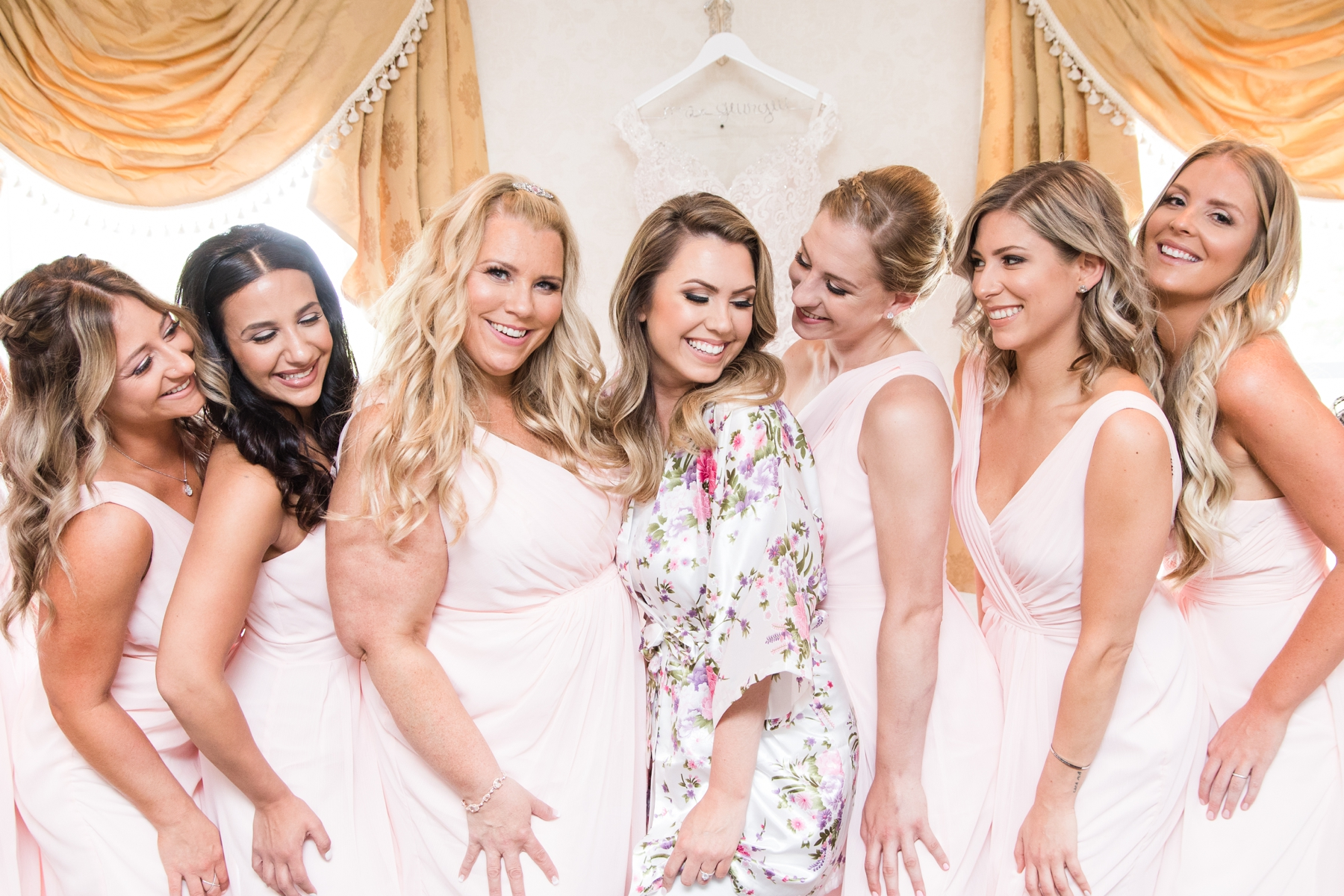 Bridesmaid at Wedding in English Manor NJ