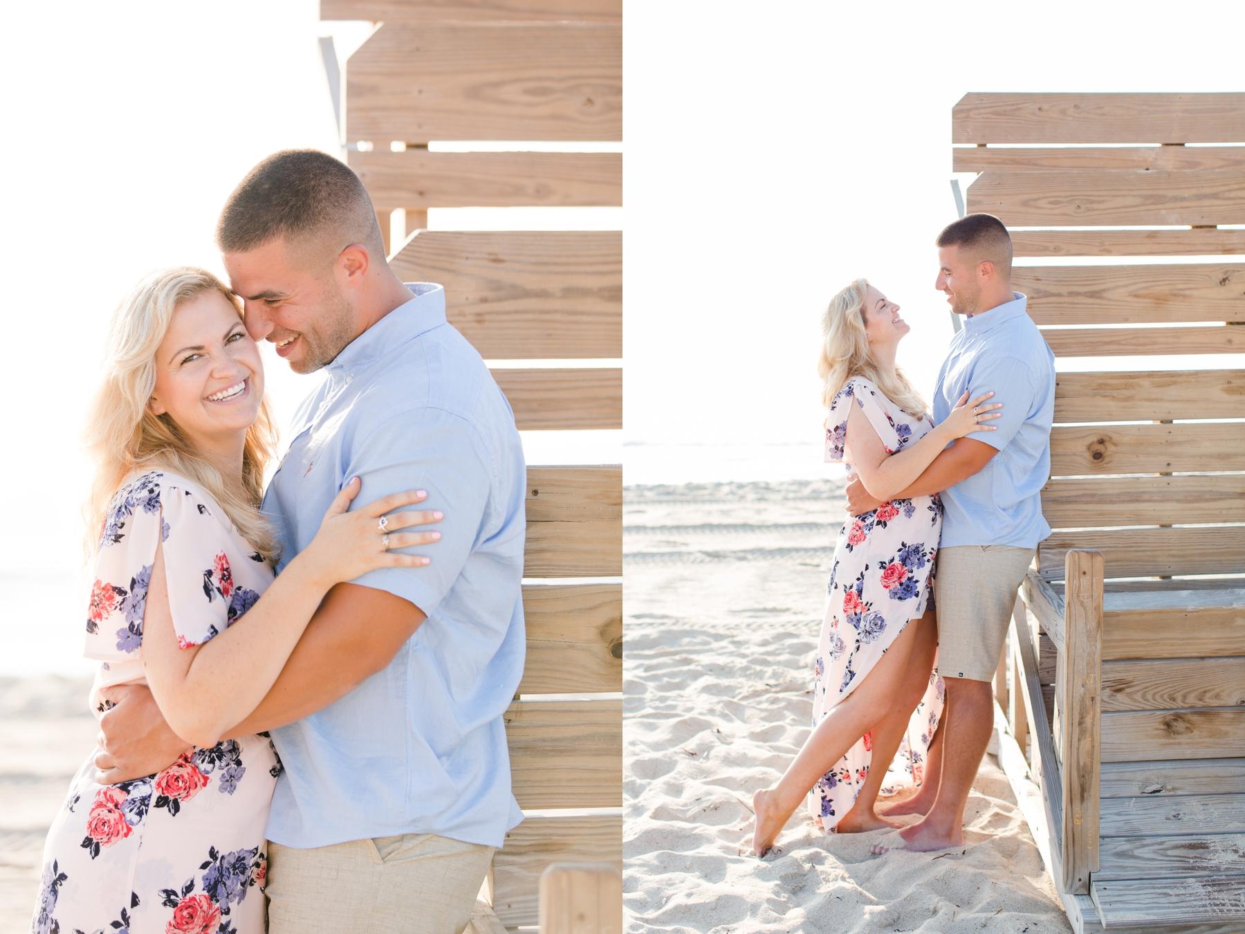 Brittany + Matt's Engagement Photography at Spring Lake