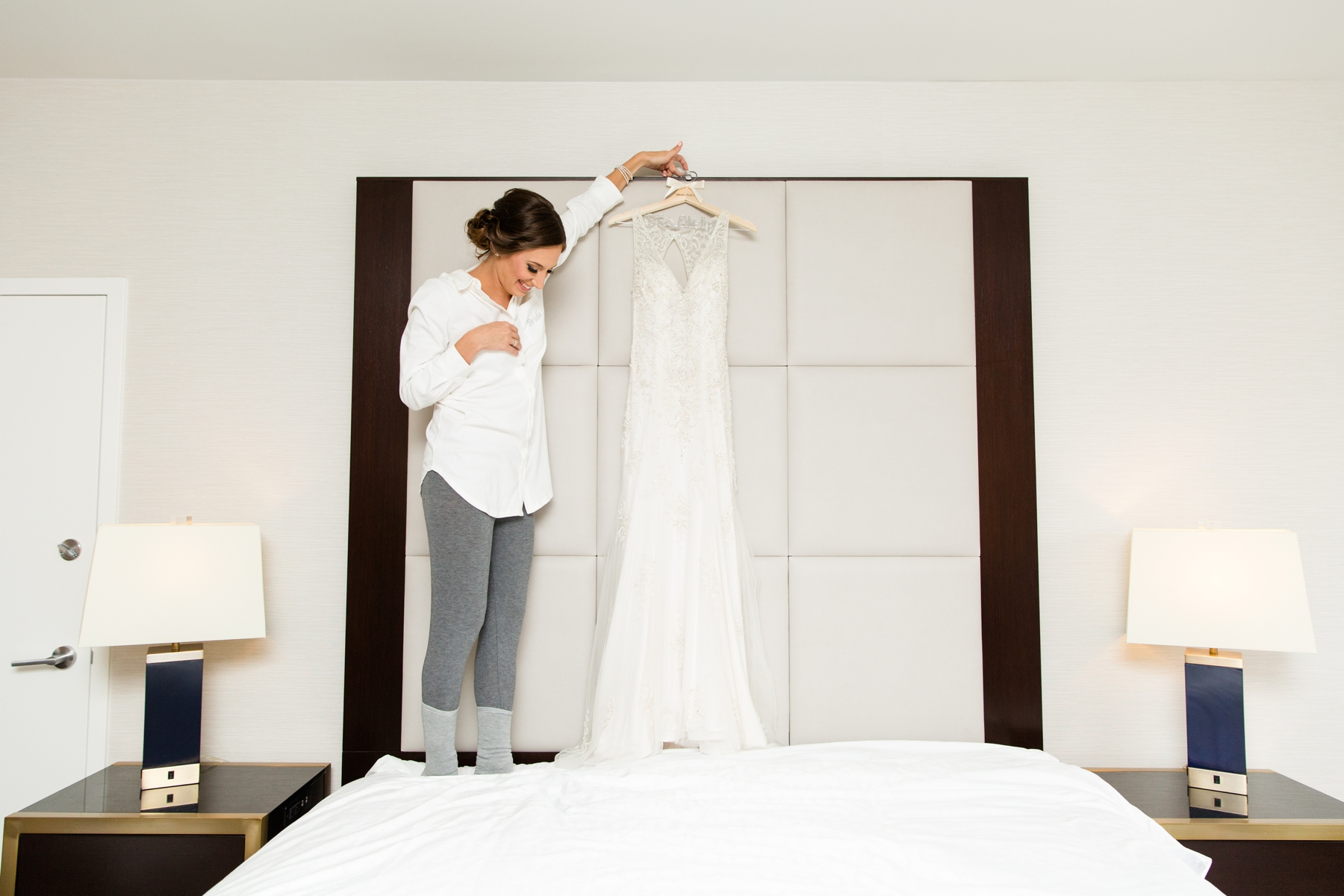 Kristen + Adam's Ivory, Gold, and Black Wedding at the Sheraton in Eatontown