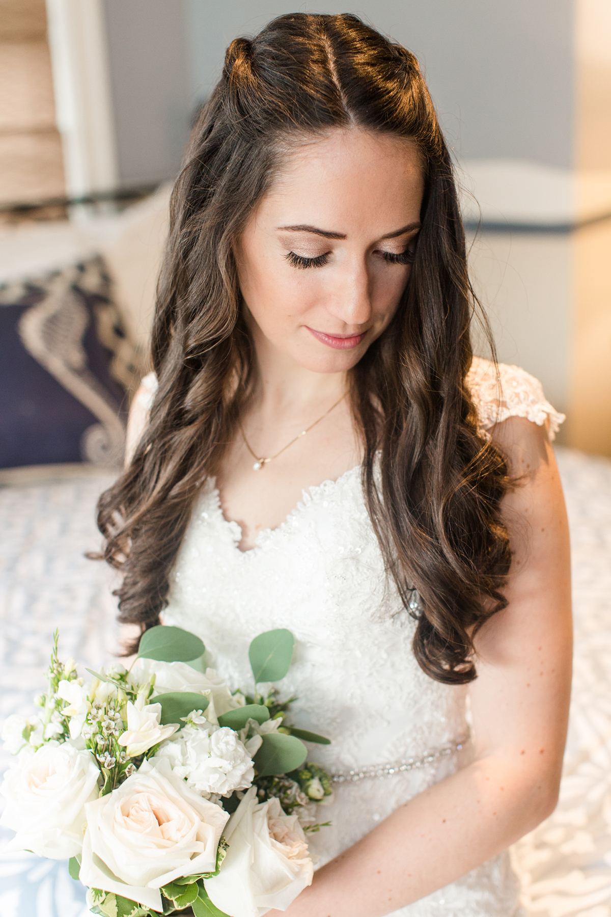 Colleen's got clicked while holding rose bouquet