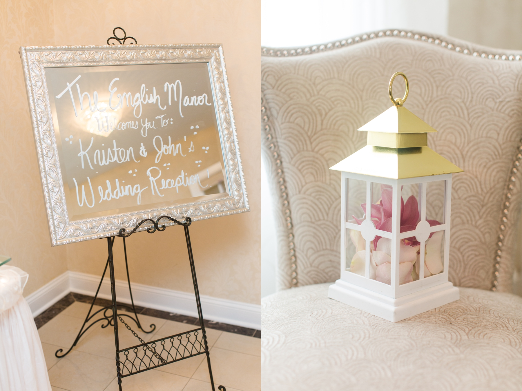 Kristen + John's October Wedding at The English Manor