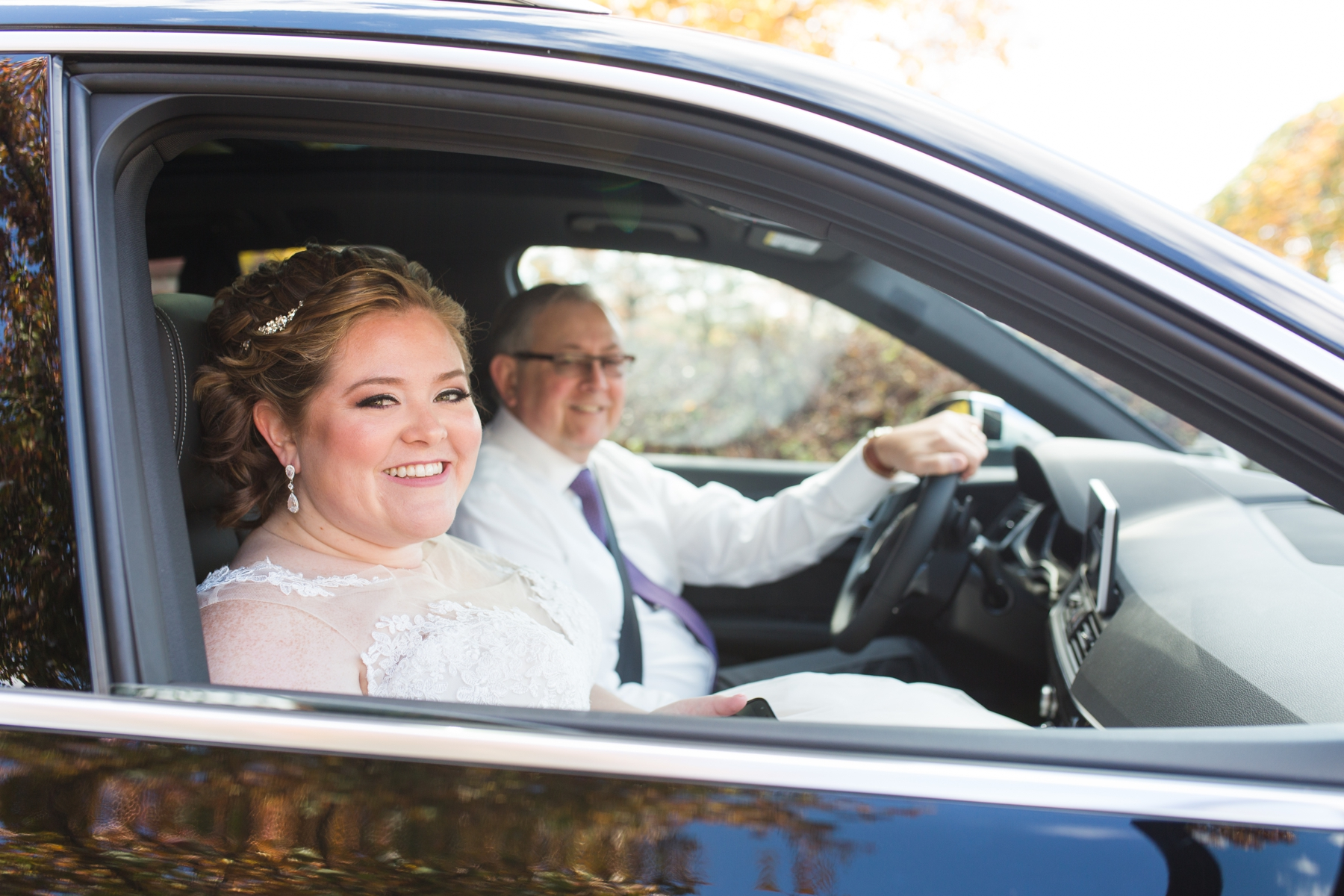 Kate's got clicked with her dad inside the car