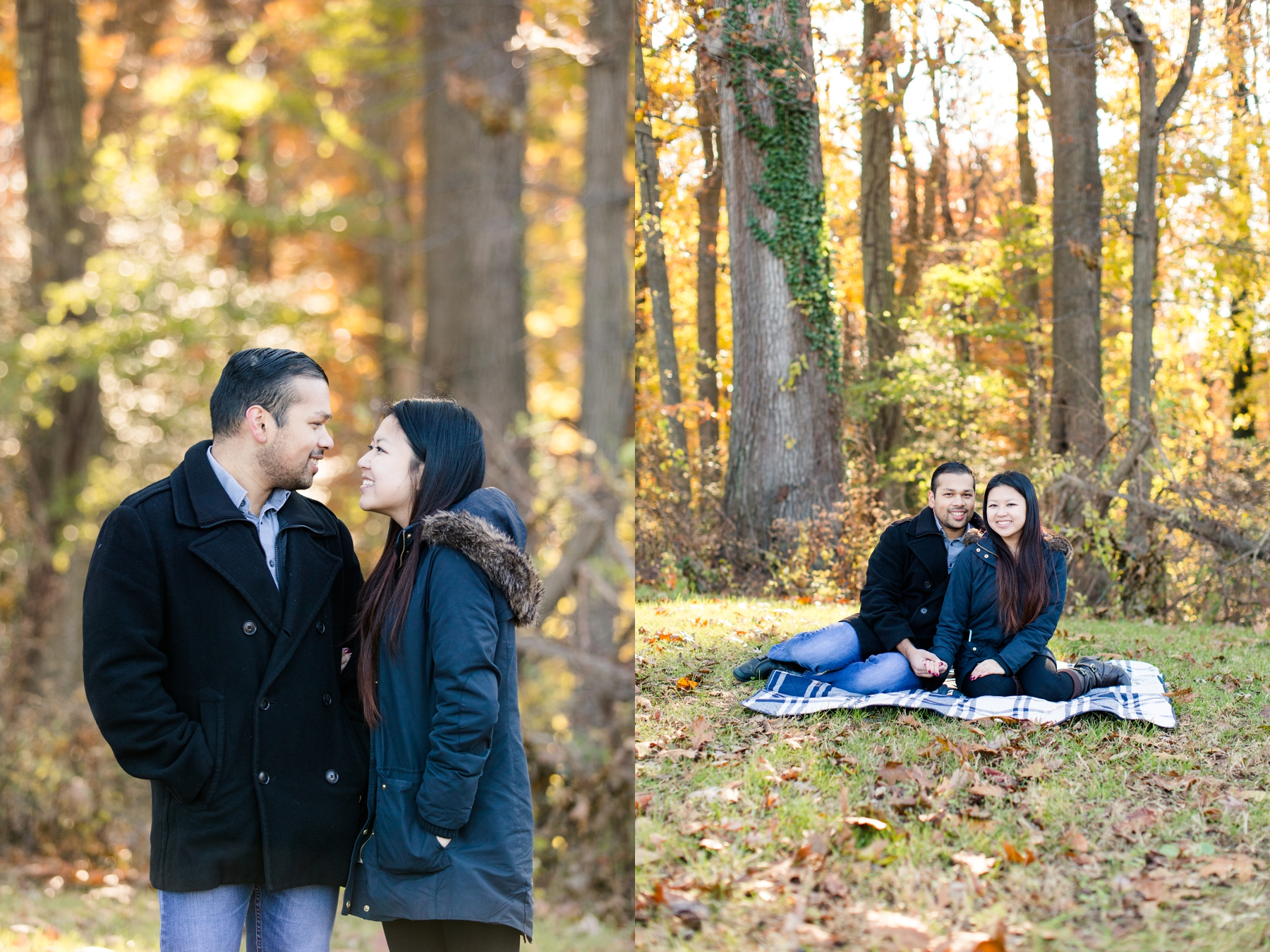 Stephanie + Naveed's Engagement Photography at Deep Cut Gardens