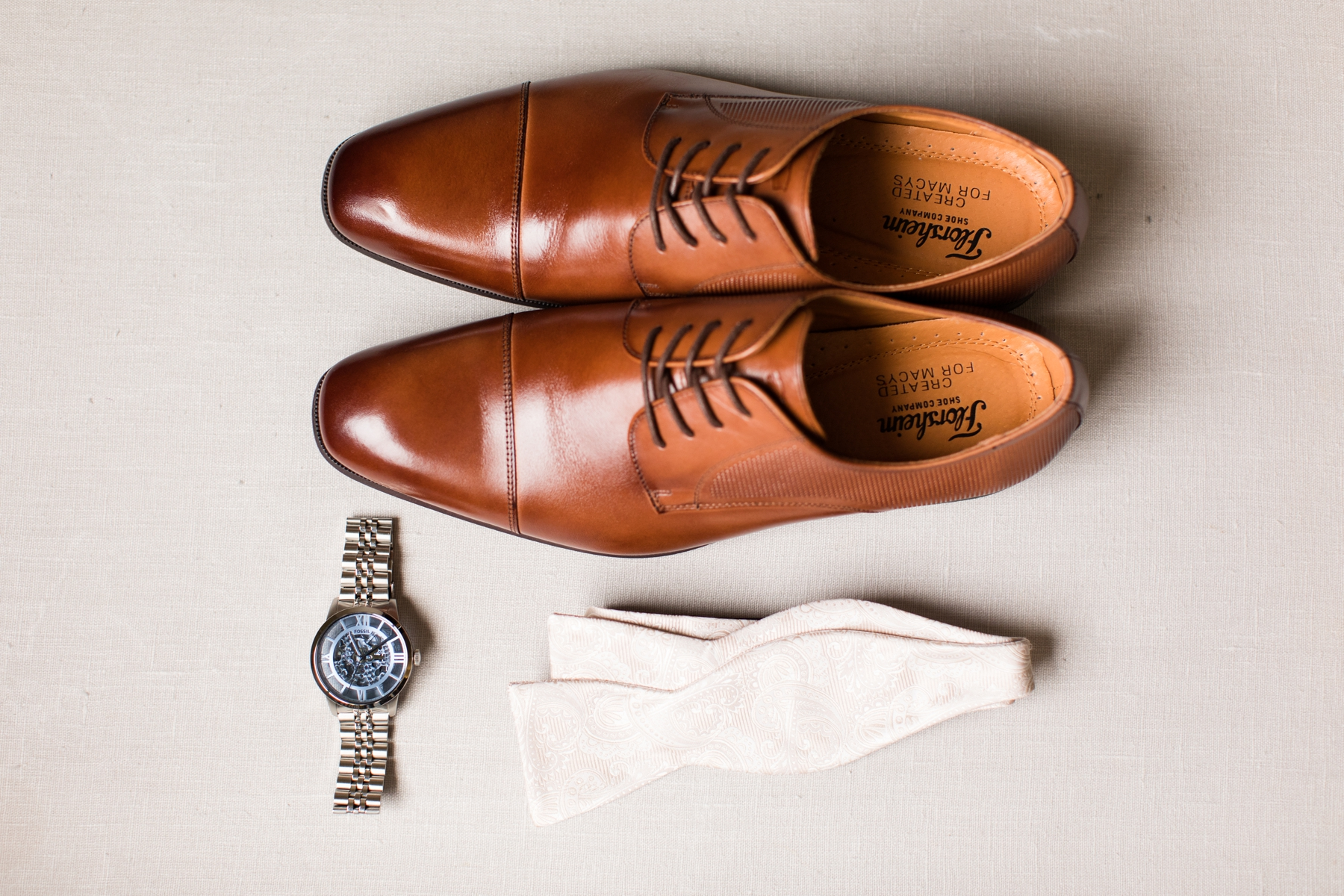 Shoes, Watch and White Bow