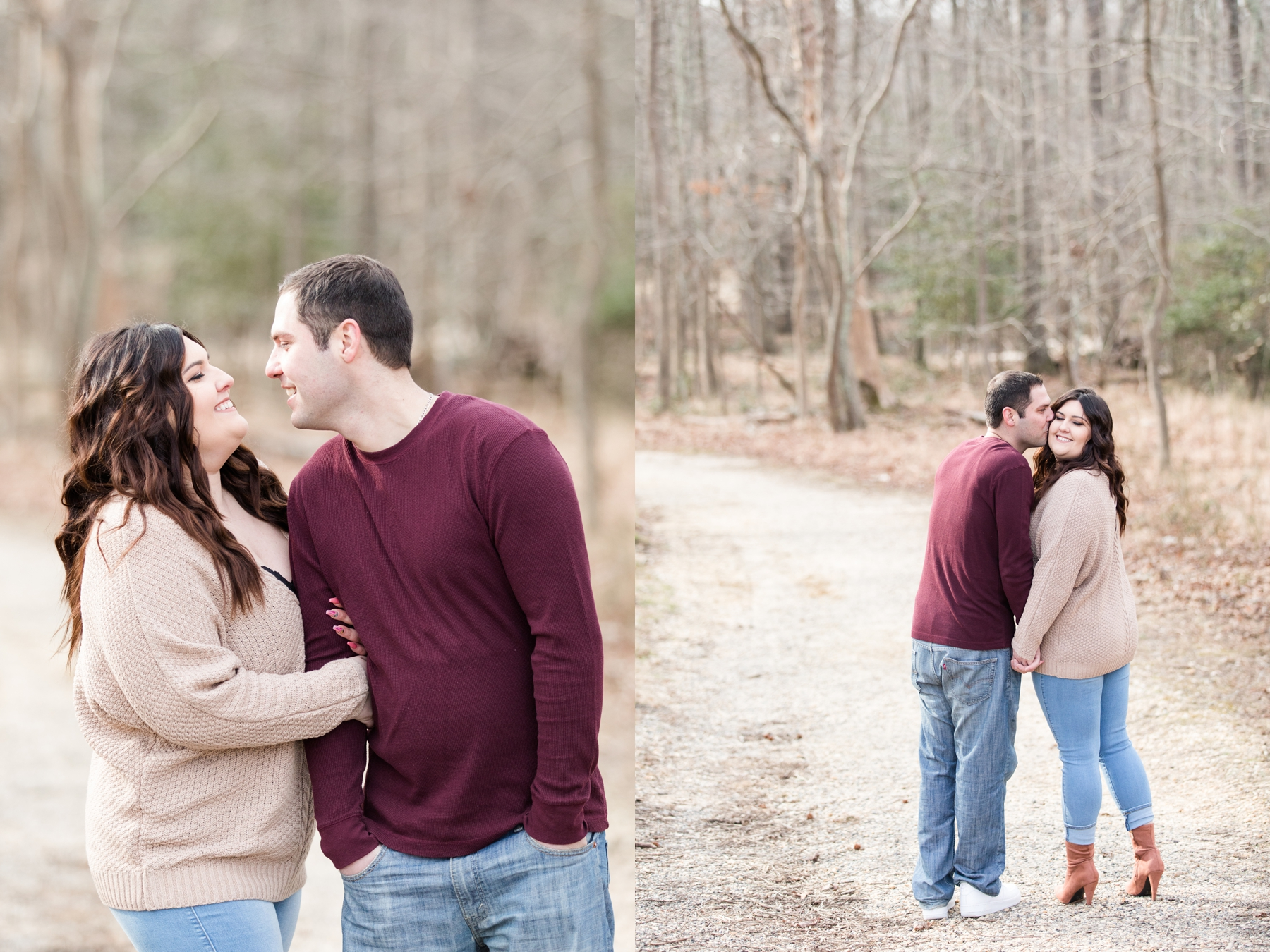 Nicole + Dan's Engagement Photos at Allaire State Park