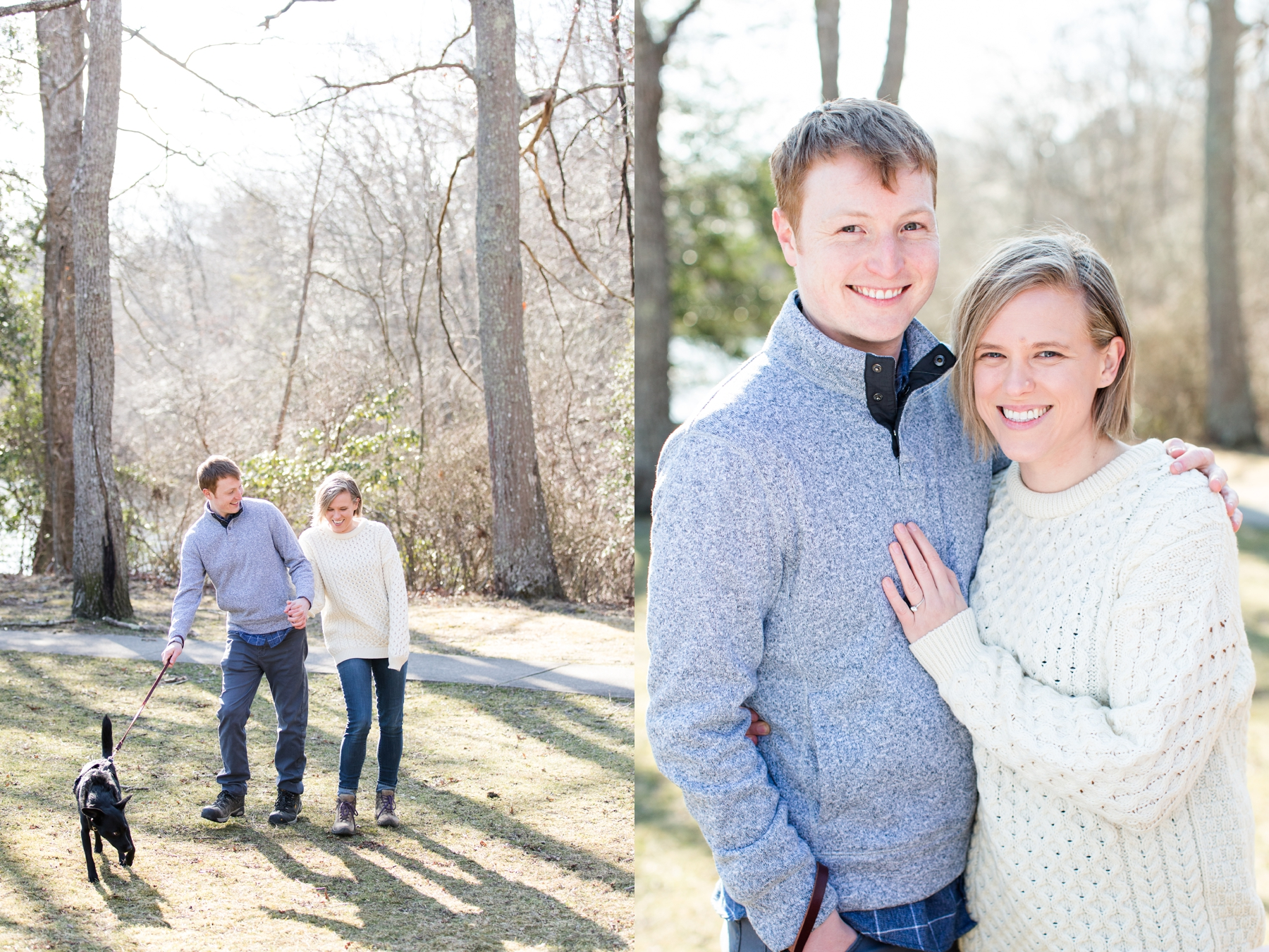 Woodsy Winter Engagement Photos at Allaire Park