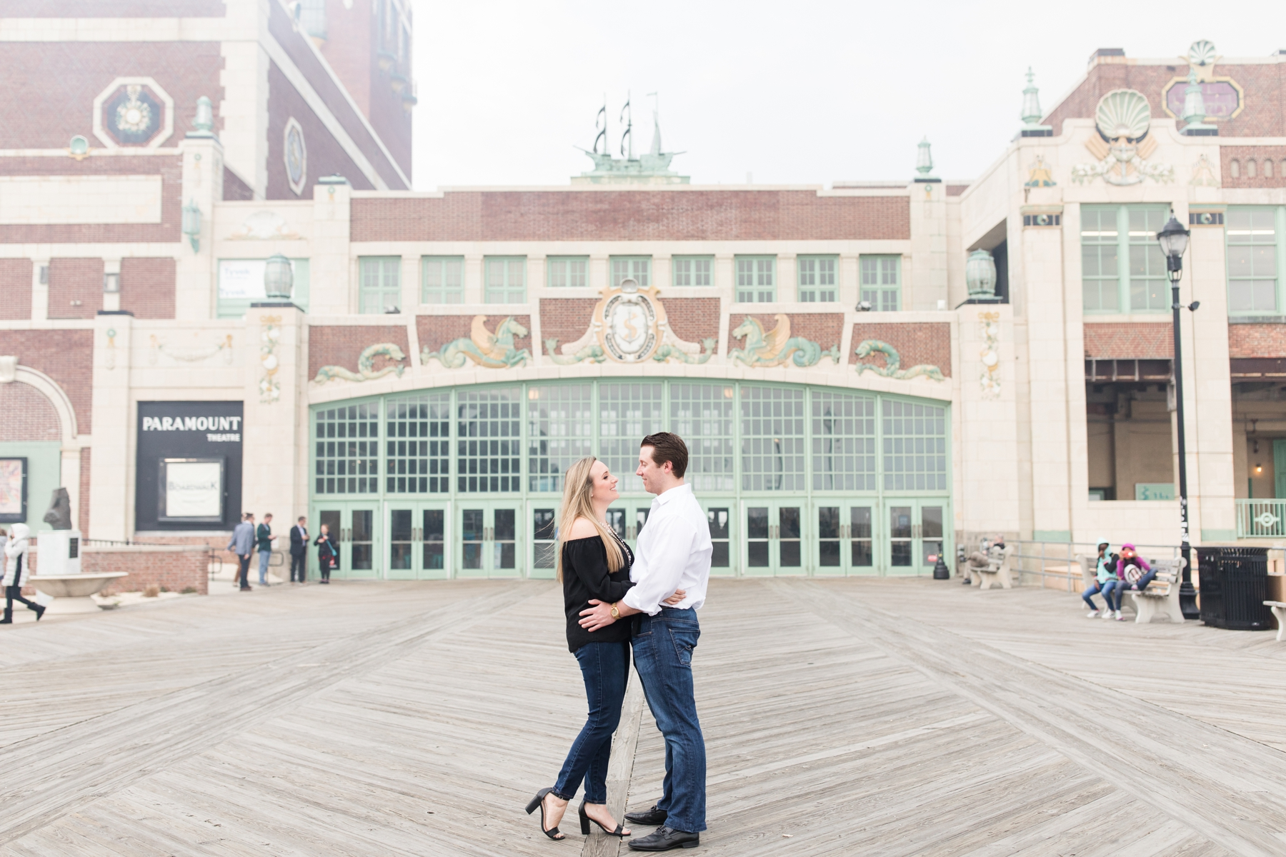 Samantha + Ryan's Asbury Park Engagement Photography