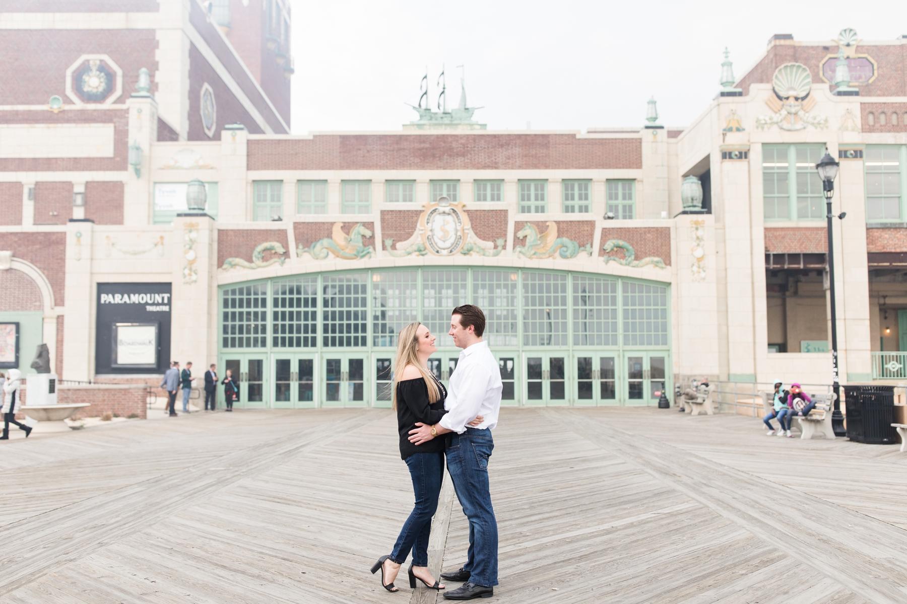 Samantha + Ryan's Asbury Park Engagement Photography