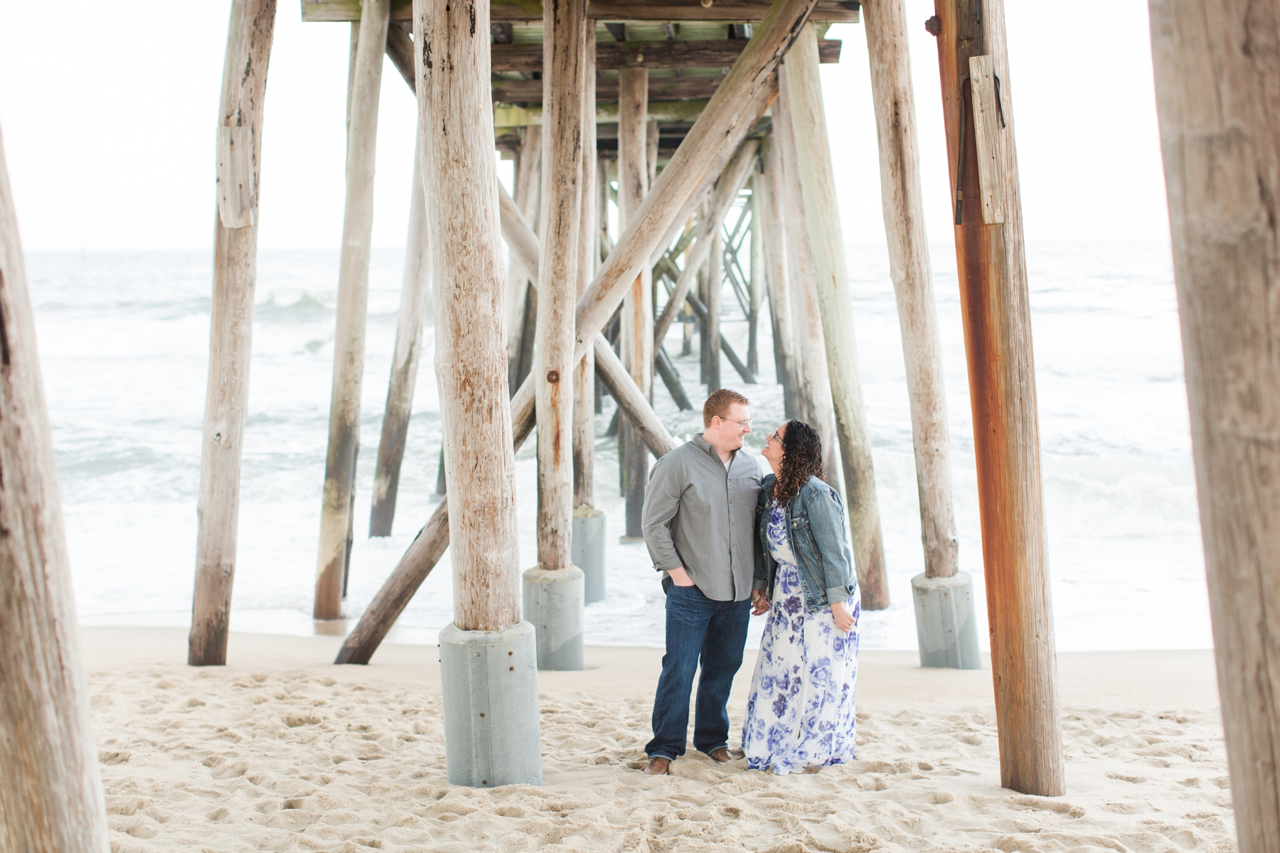 Courtney + Andrew Belmar Beach Engagement Photos