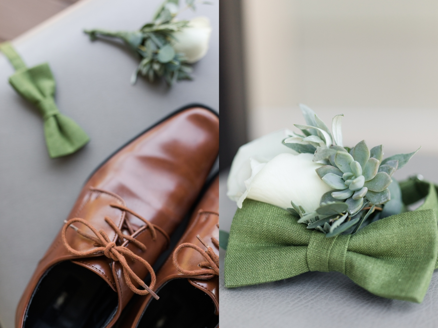 Green Toned Wedding Details