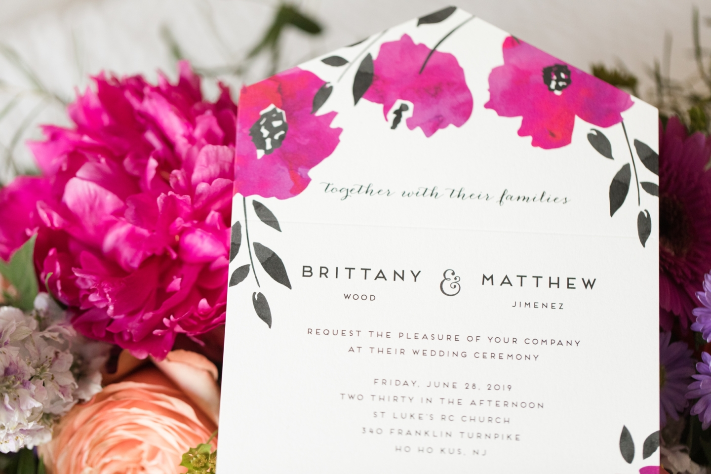 Bold Vibrant Bouquet and Fuchsia Infused Wedding Details