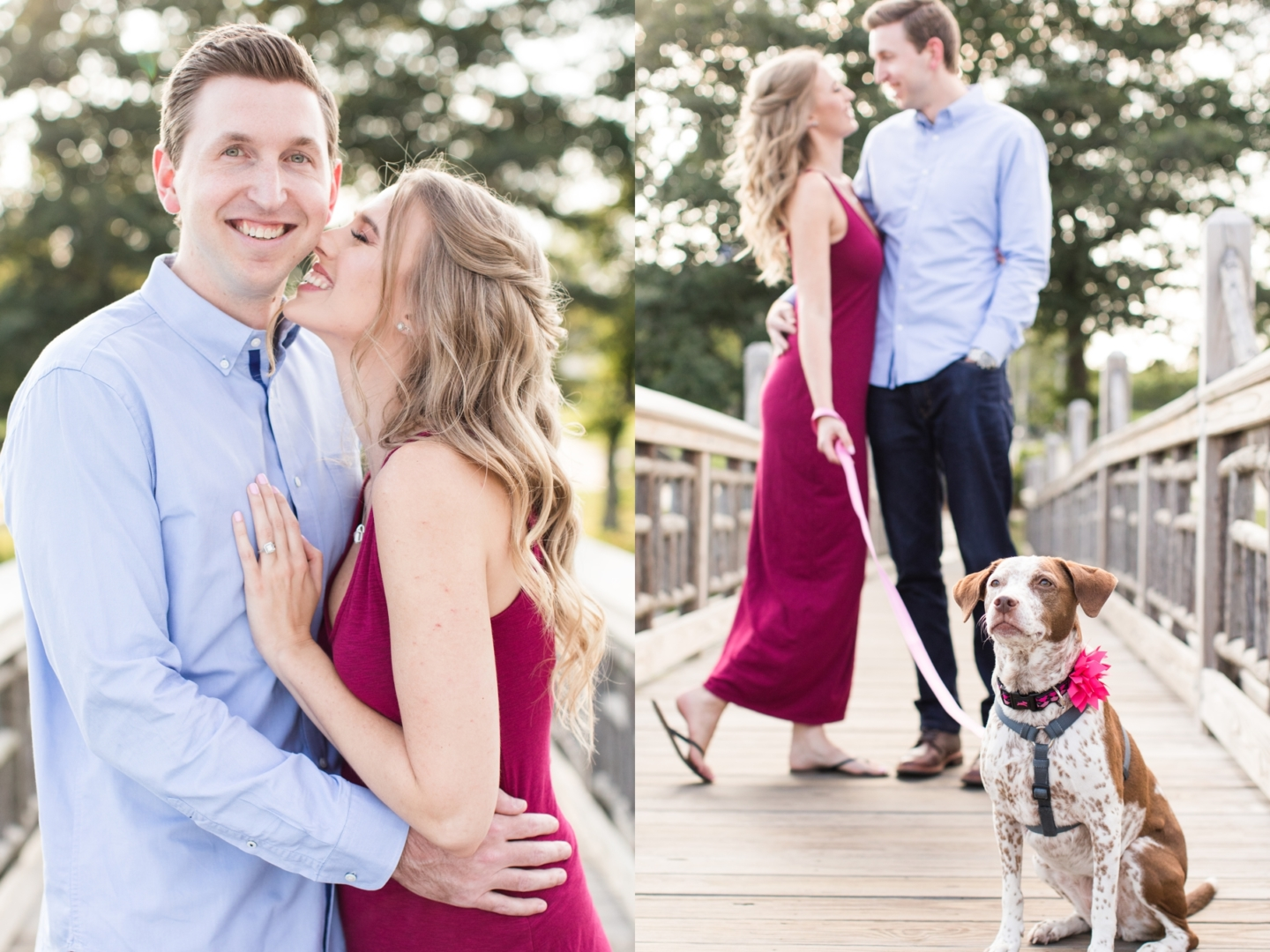 Melissa + Michael's Engagement Session at Spring Lake