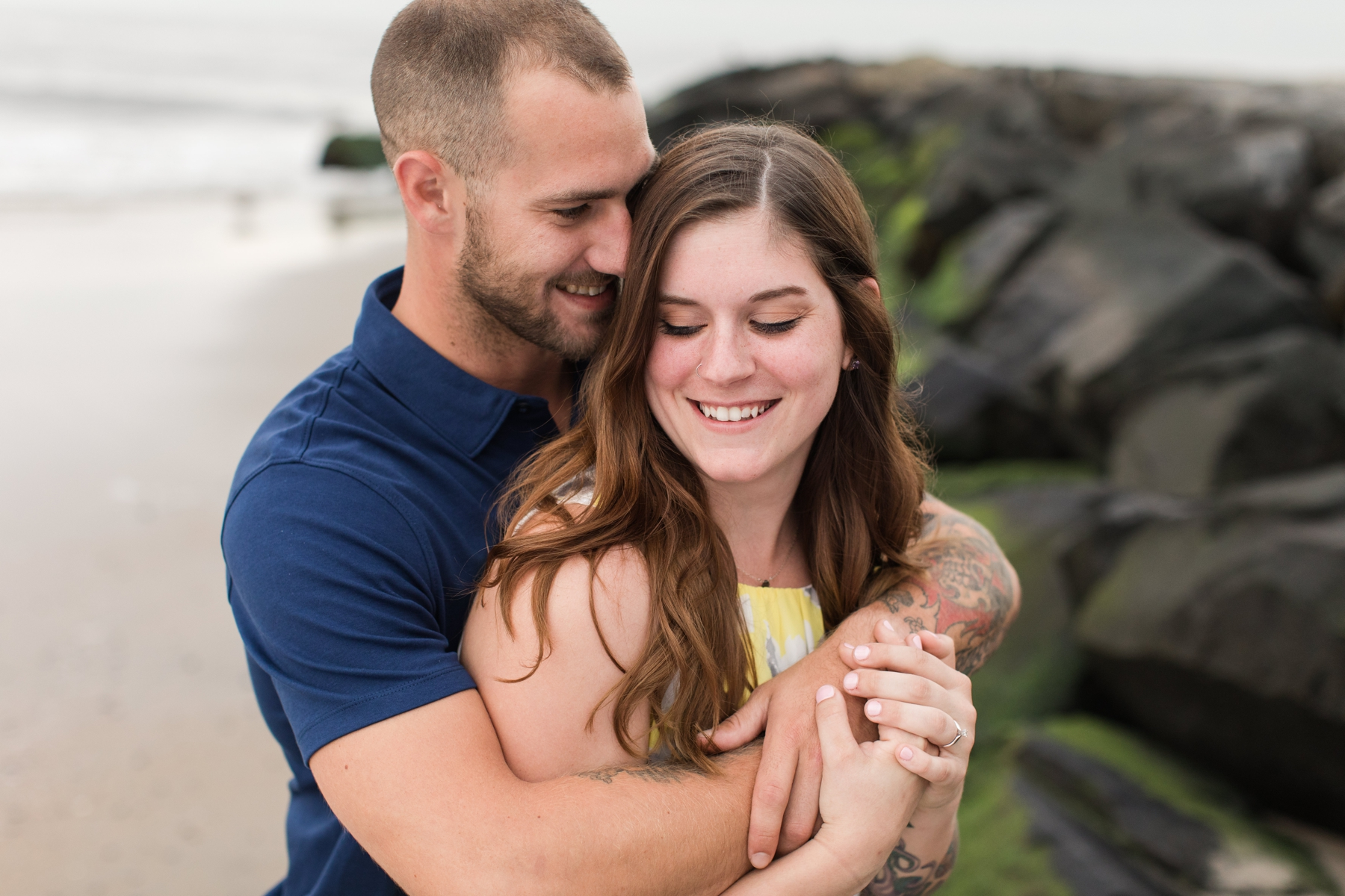 Jess + Patricks Beach Engagement Photography in Asbury Park
