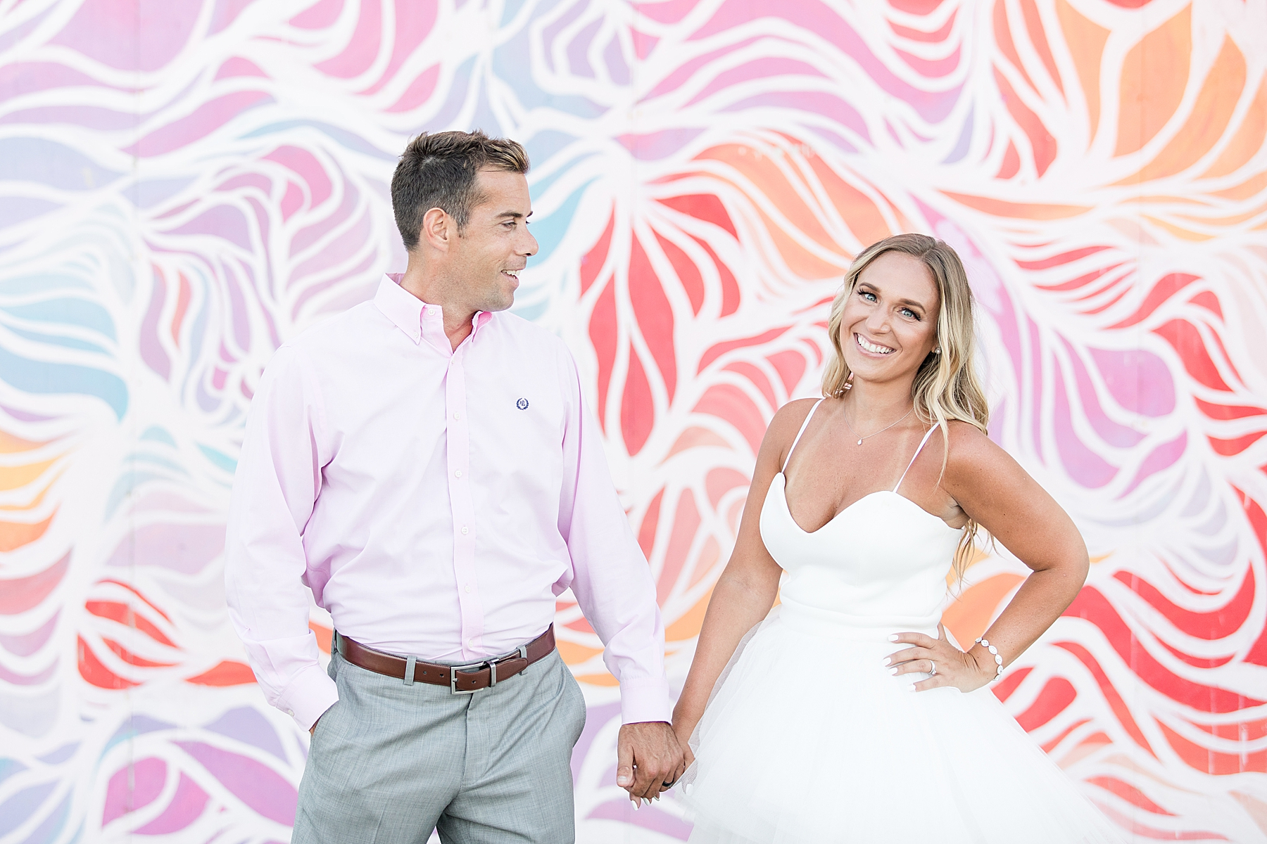 Vicki and Brandon's Wedding Portraits at Asbury Park Beach