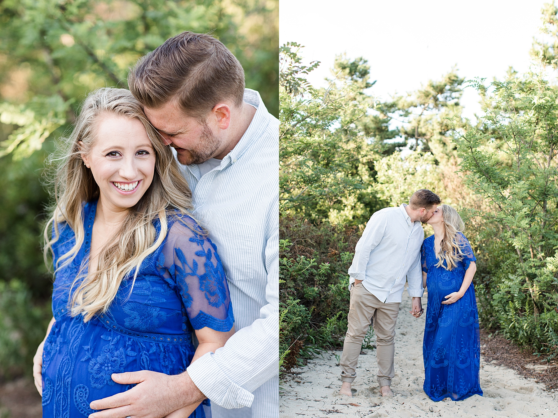 Caitlin + Sean's Maternity Photos at Belmar Beach