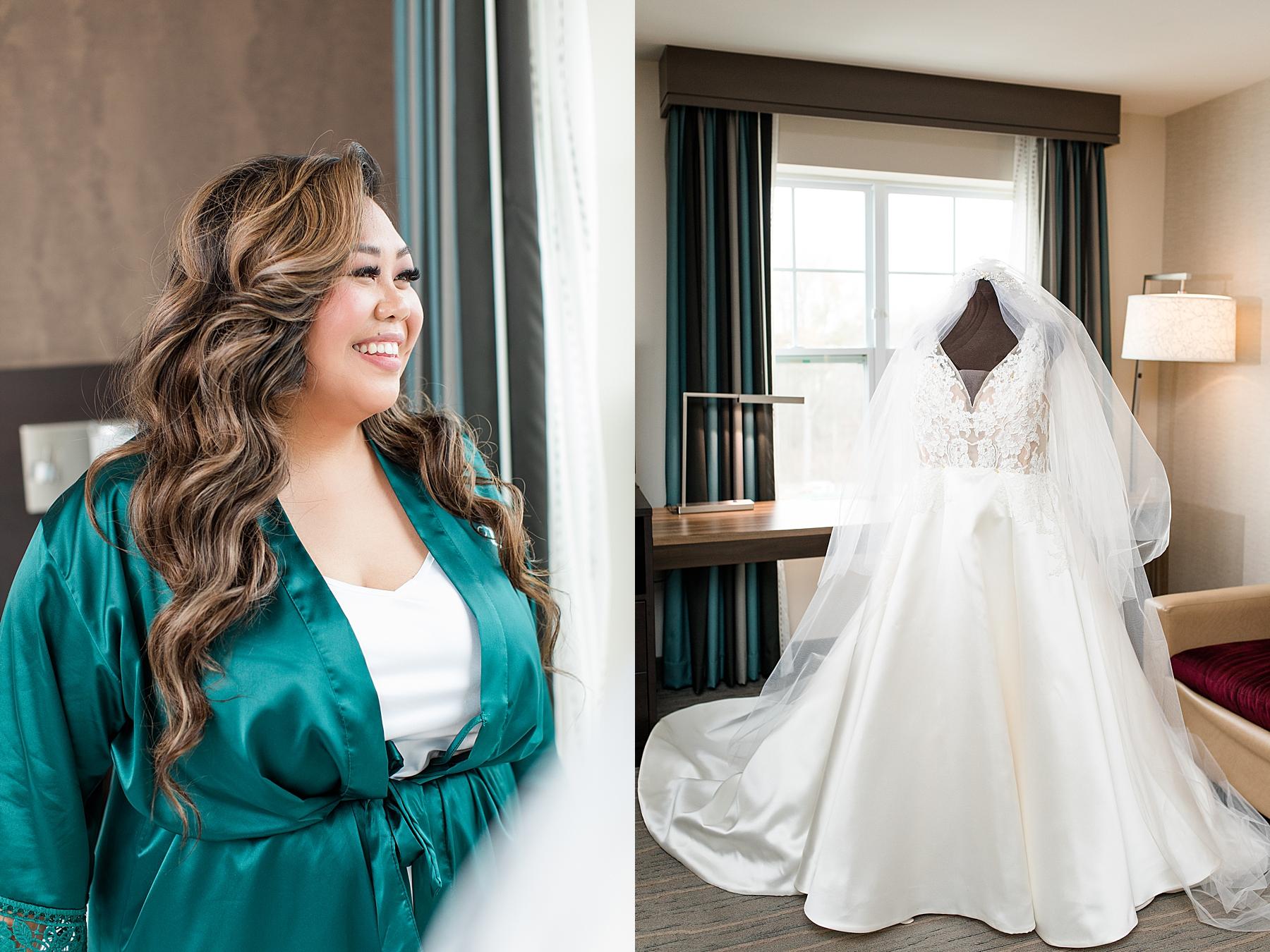 Bride's Wedding Gown Hamilton Manor