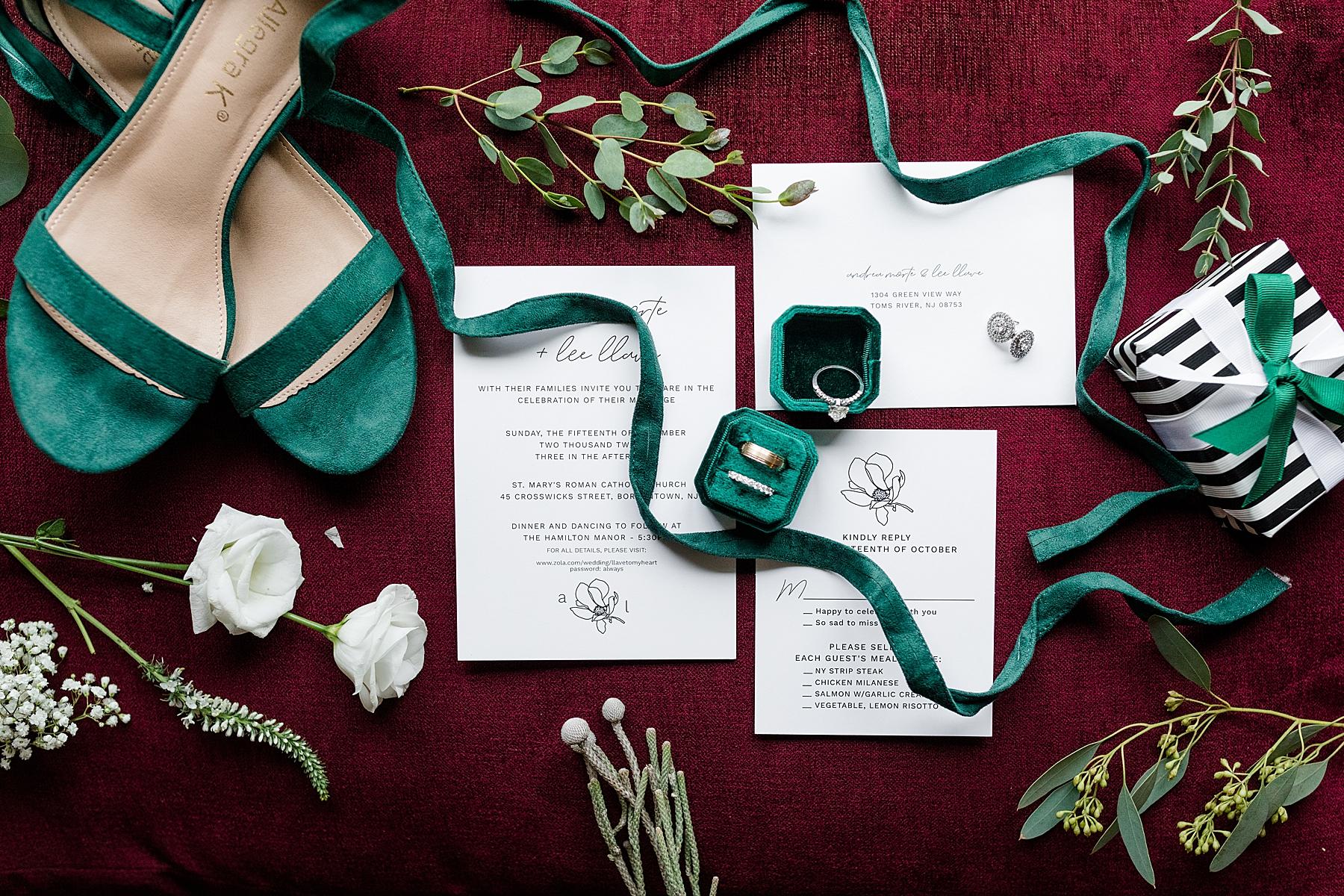 Wedding Cards & Rings Hamilton Manor