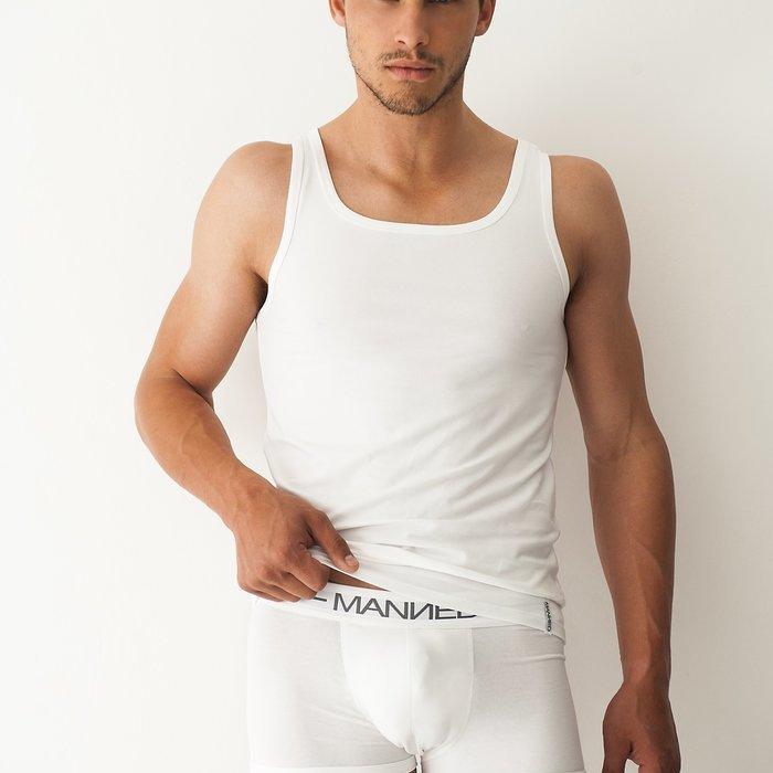 Manned Singlet Onderhemd (Wit) detail 1.1