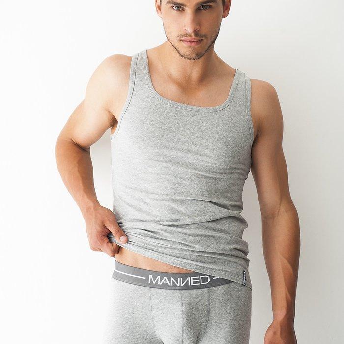 Manned Singlet Onderhemd (Grijs) detail 1.1