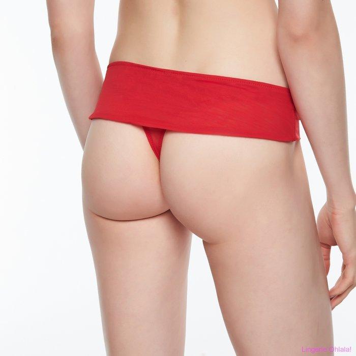 Chantal Thomass Enscens moi String (Poppy Red)