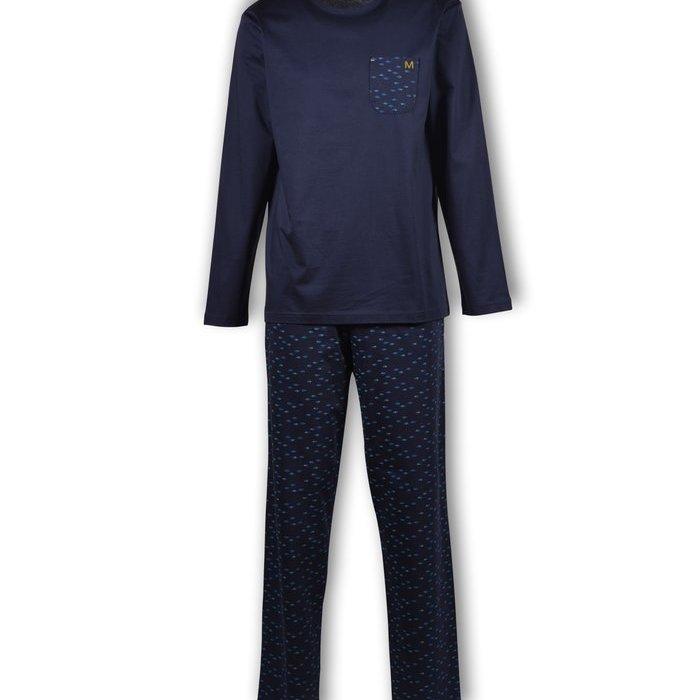 Manned Pyjama Pyjama (Donkerblauw All-over Print)