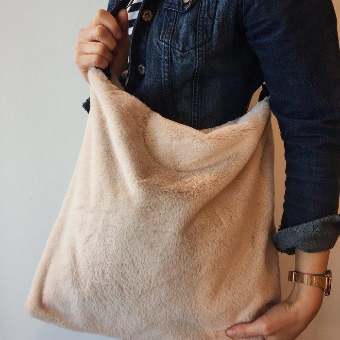Vitamia Fluffy bag Tas (Crema)