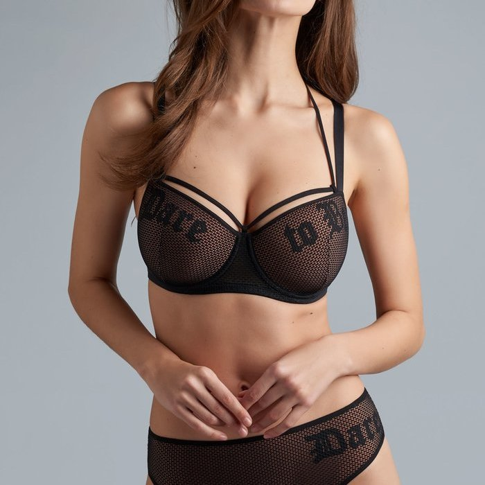 Marlies Dekkers Dare to be String (Black and Sand) detail 1.1