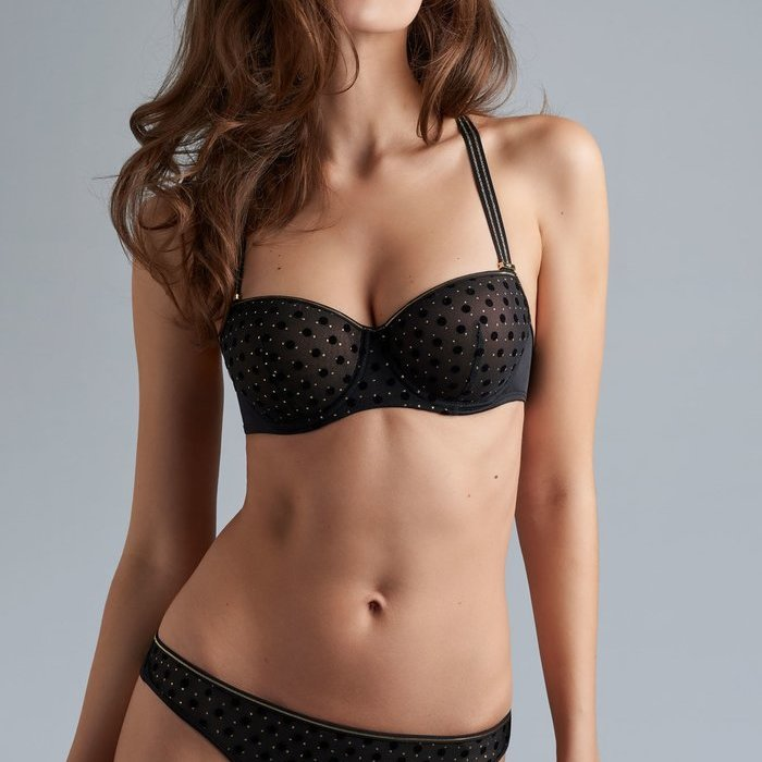 Marlies Dekkers Petit point Voorgevormde BH (Black and Gold)