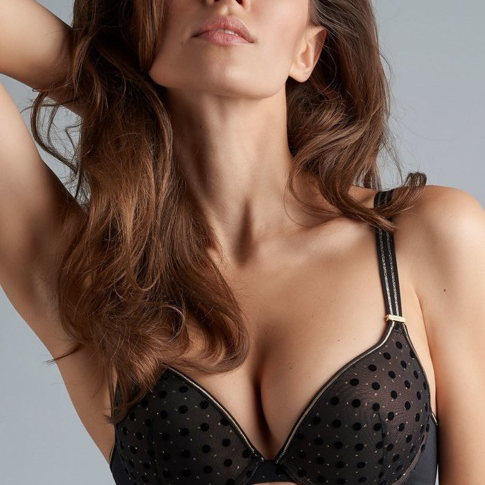 Marlies Dekkers Petit point Beha Voorgevormd (Black and Gold)