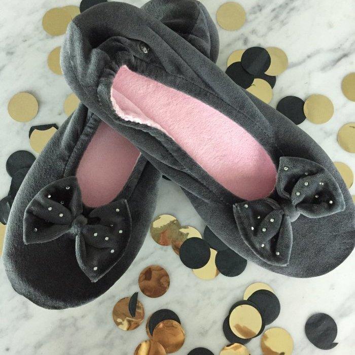 Isotoner Ballerina Pantoffels (Gris)