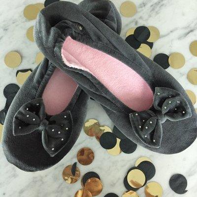 Isotoner Lingerie Ballerina Pantoffels