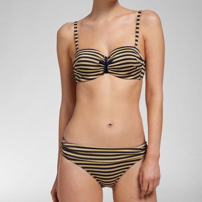 Cyell Spring harbor Bikini (Navy Gold Stripes)