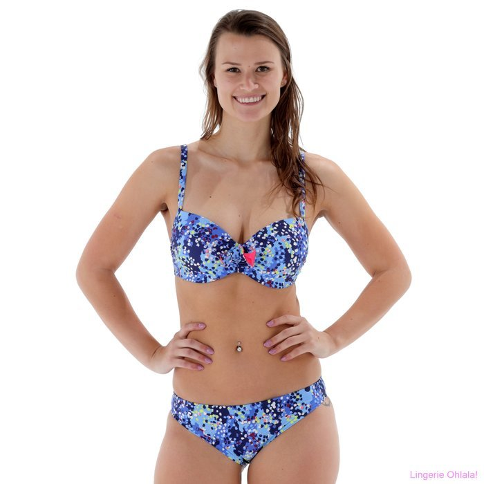 Chantelle Cascade Bikini (Blue Dots)