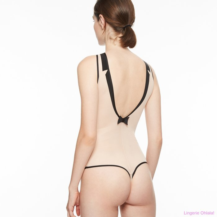 Chantal Thomass Singuliere Body (Nude/Black)