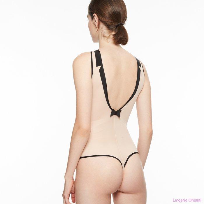 Chantal Thomass Singuliere Body (Nude/Black)