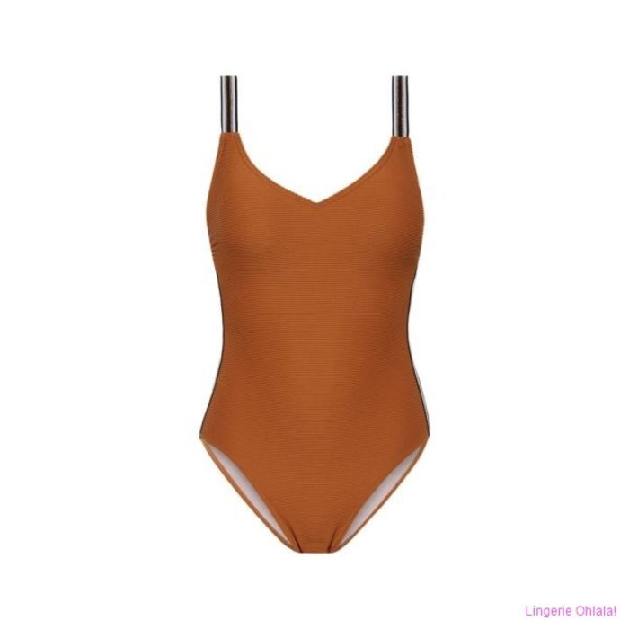 Beachlife Leather brown Badpak (Leather Brown)