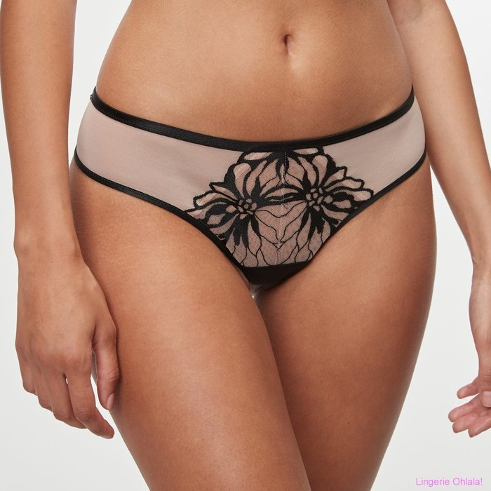 Chantelle Shadows String (Black/Nude)