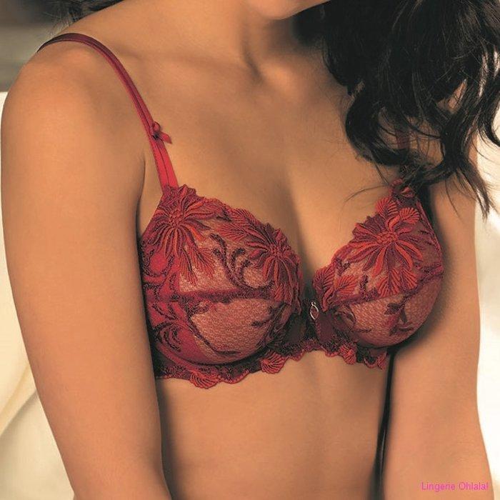 Lise Charmel Fleur aphrodite Niet Voorgevormde BH (Rouge Aphrodite)