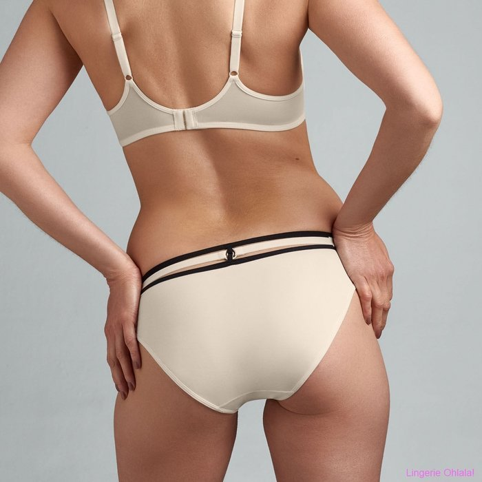 Marlies Dekkers Space odyssey Slip (Ivory and Black)