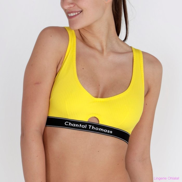 Chantal Thomass Honoré Beugel BH (Neon Yellow)