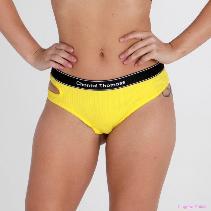 Chantal Thomass Honoré String (Neon Yellow)