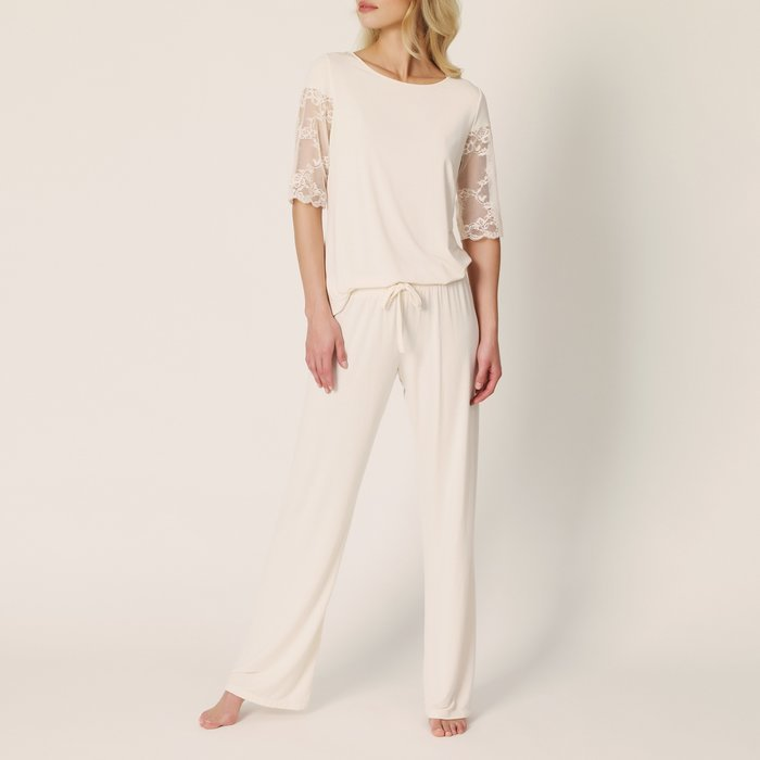 Marie Jo Bella Pyjama (Pearled Ivory) detail 1.1