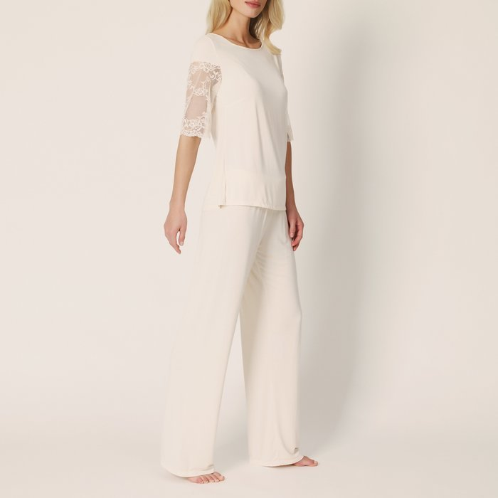 Marie Jo Bella Pyjama (Pearled Ivory) detail 2.1