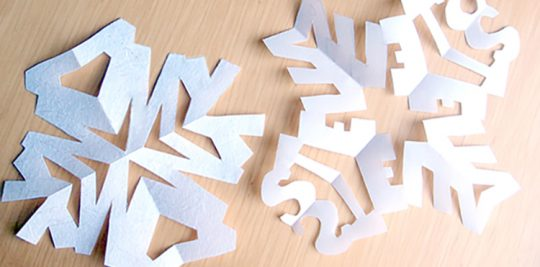 Personalized name snowflake