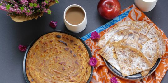 Pumpkin Parathas hero