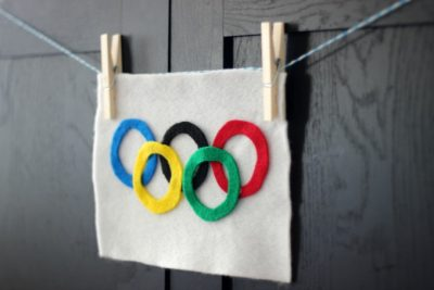 DIY Summer Olympics Flag Craft