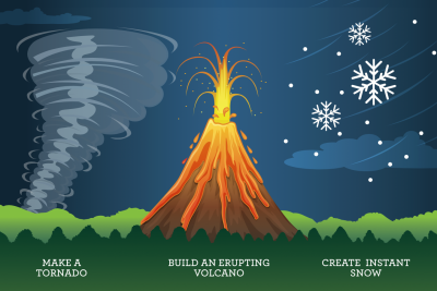 Make a Volcano, a Tornado, and DIY Snow With Our Weather Lab