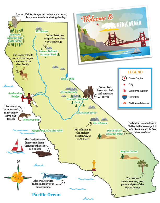 California Map Fun Facts