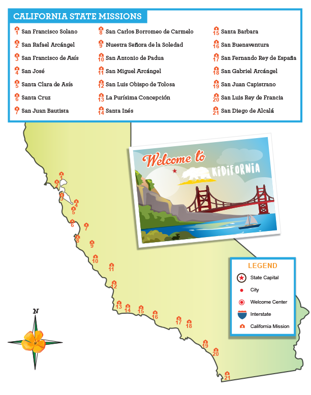 California Map Missions