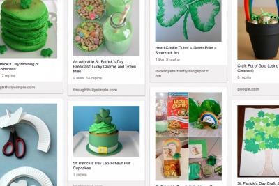 St. Patrick's Day Pinterest Page